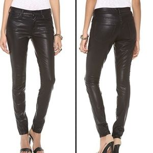 Mother   The Muse Skinny Vegan Leather Pant